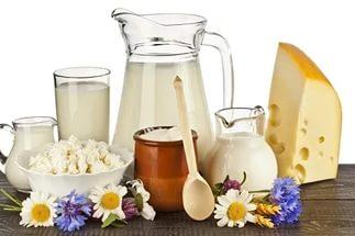 Питание молоком и кисломолочными изделиями