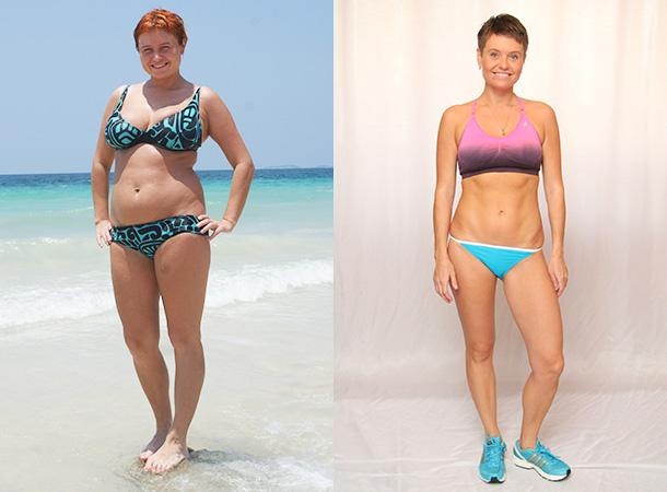 за месяц похудела на 4 кг
