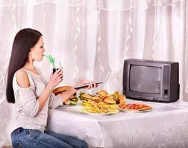 Запрет просмотра телевизора во время еды