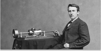 томас эдисон изобретение фонографа